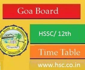 goa hssc board date sheet 2017