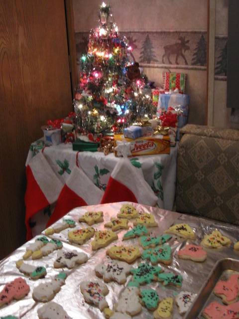 Yes, you can bake Christmas cookies in a camper!