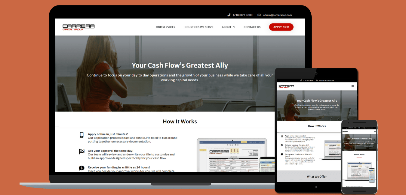 Carrera Capital screenshots for portfolio