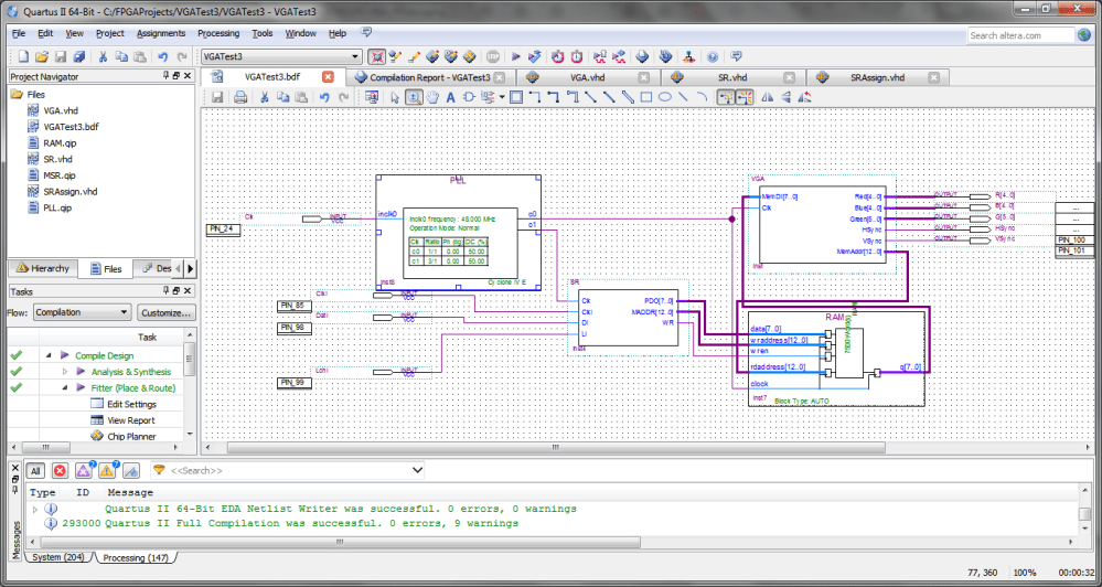 medium resolution of block diagram file for the fpga vga controller
