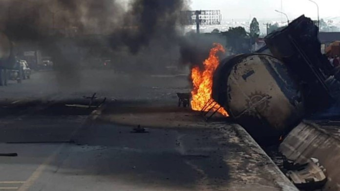Another Petrol Tanker Goes Up In Flames In Onitsha
