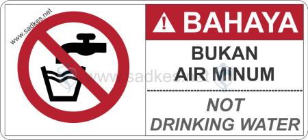 Sign Bukan Air Minum