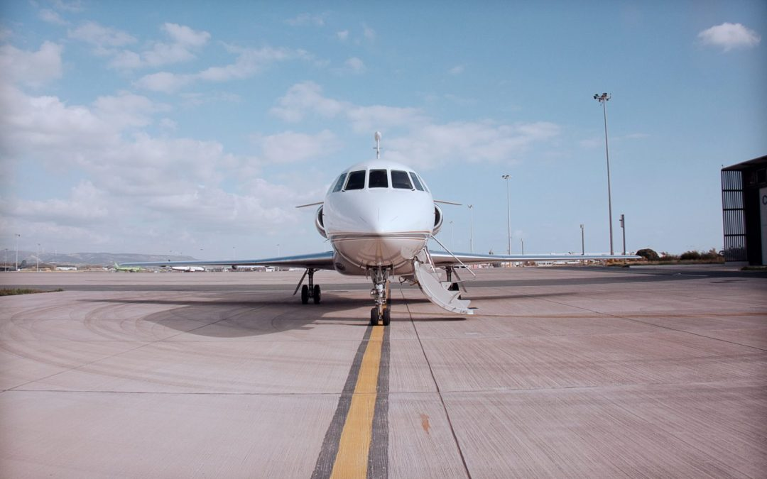 Private Jet parked in Paphos airport