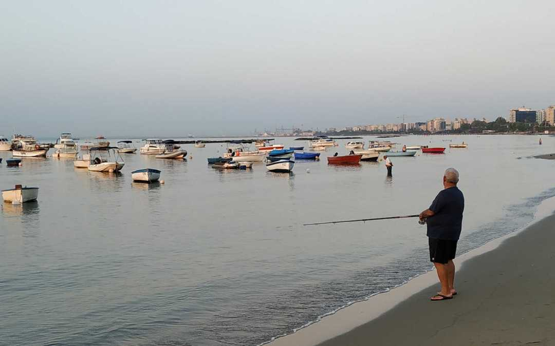 Limassol Beach a place without any infrastructure and control however everything runs smotthly