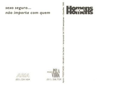 CARTÃO POSTAL - CABARET PREVENÇÃO-VERSO - 1995