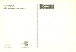 CARTÃO POSTAL - HSH - 1995 - VERSO