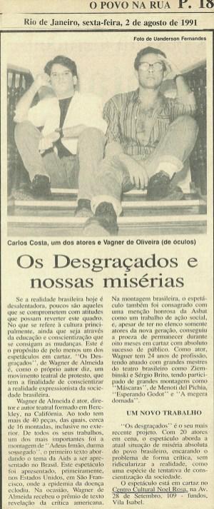 JORNAL - O POVO NA RUA - 1991K