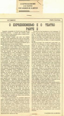 PAPO TEATRAL - SETEMBRO 1991K