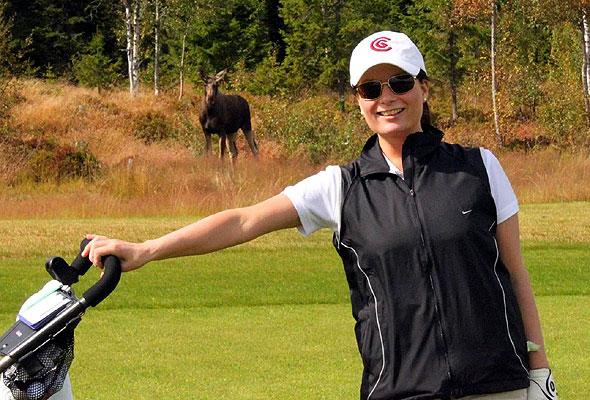 Kristine Schaug og elgen
