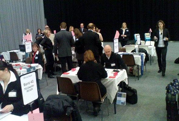 Det var stor møteaktivitet på HSMAI Møtebørsen 2010
