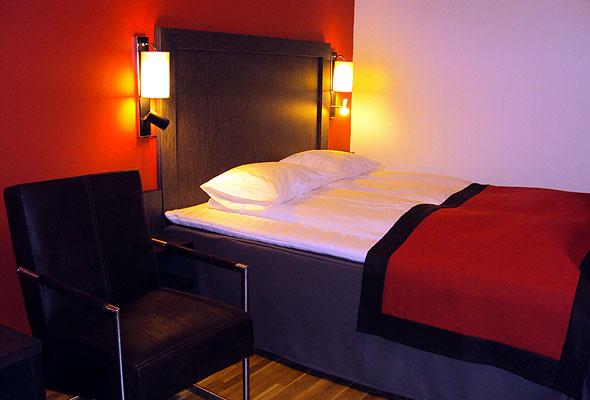 Et av rommene på nye Thon Hotel Alta