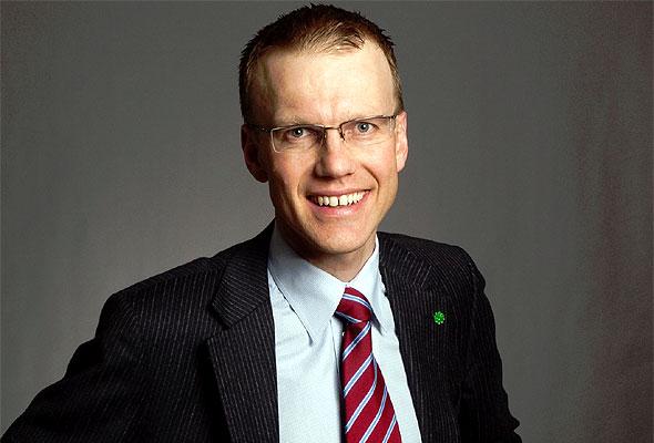 Erik Lahnstein (Sp), statssekretær i Utenriksdepartementet. Fotograf Sjøwall