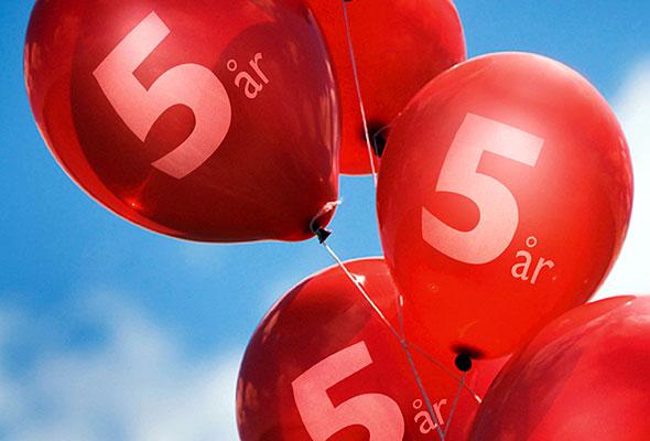 Fem-årsjubileum