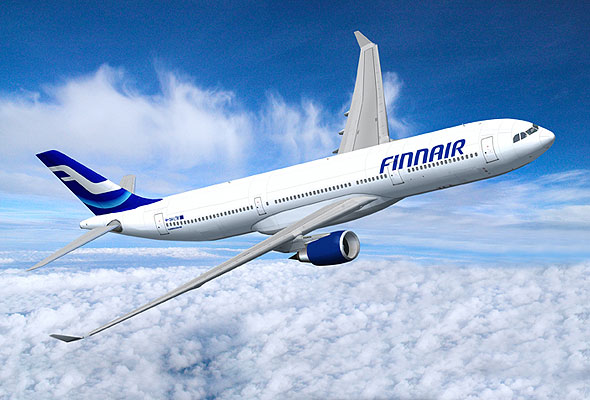 Finnair-maskin i lufta