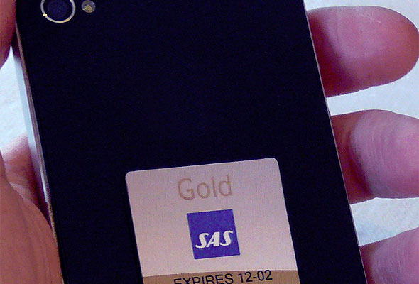 iPhone med SAS Smart Pass