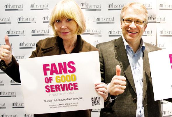 Ingunn Hofseth og Ståle Stokke i HSMAI er Fans of Good Service