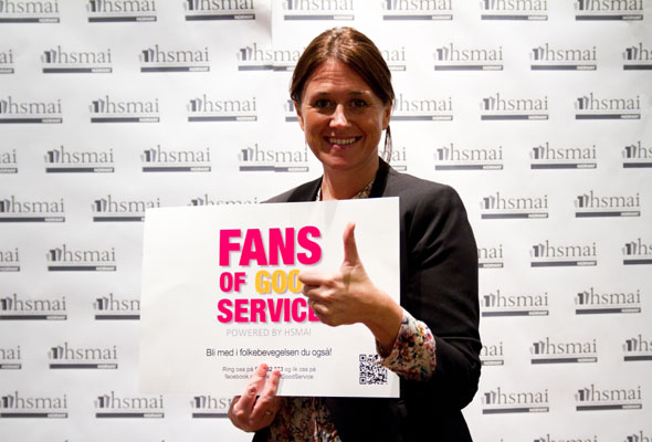 Siri Løining. Fans of good service