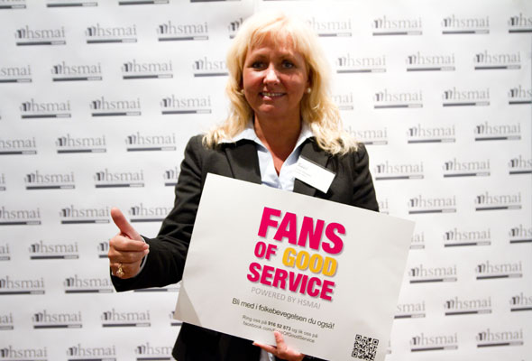 Toril Flåskjer. Fans of good service