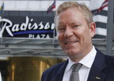 Tarje Hellebust, adm. dir. på Radisson Blu Hotel Oslo Plaza.