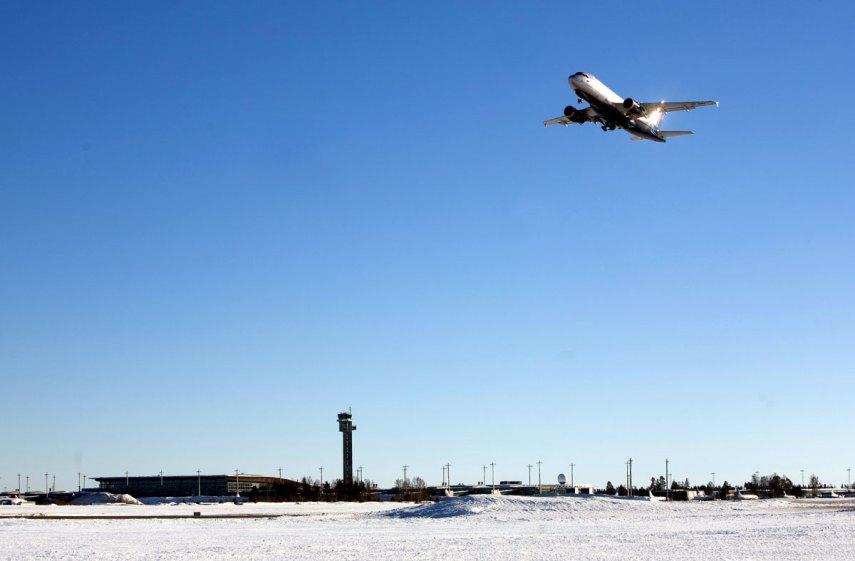 Et fly fra Aeroflot tar av fra Oslo lufthavn. Fotograf: Espen Solli/Oslo Lufthavn AS