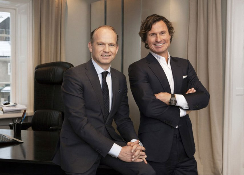 Torgeir Silseth (t.v.), administrerende direktør i Nordic Choice Hotels, sammen med eier og styreleder Petter A. Stordalen. Foto fra Nordic Choice Hotels.