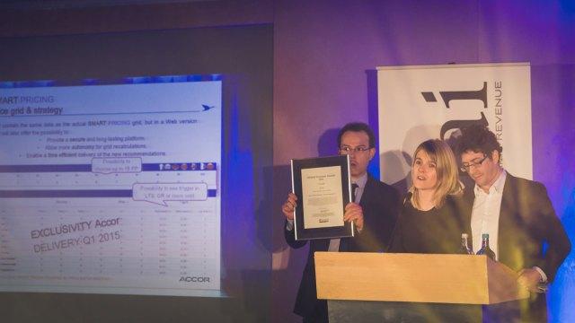 "Franske Accor vant kategorien ""Best in Class"" teknologi – Revenue Management. Fotograf: Gunnar Kopperud/Netta Nyman, PhotoWalk/Konferansefotografering"