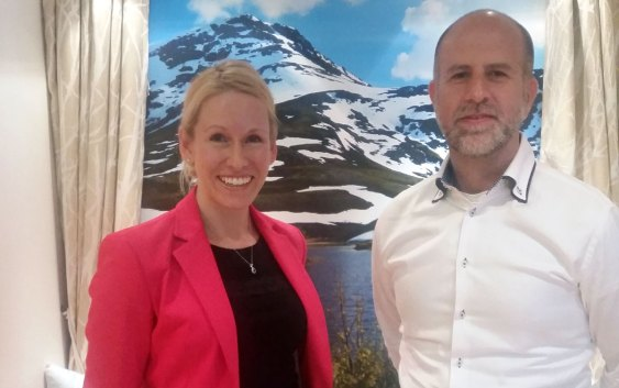 Terri Scriven, Industry Head of Hospitality in Google UK, and Niklas Schlappkohl, Senior Director eCommerce in Carlson Rezidor Hotel Group, elected Vice Chair and Chair respectively of the HSMAI Europe Digital Marketing Advisory Board, in Google Norway's Oslo offices.