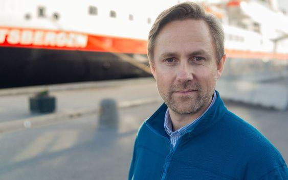 Rune Thomas Ege, kommunikasjonssjef i Hurtigruten. Foto fra Hurtigruten AS.
