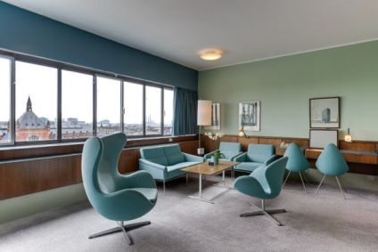 Interiør på Radisson Blu Royal Hotel i København.
