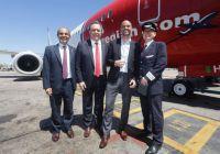 Stor begeistring i Argentina da Norwegians første innenriksfly tok av