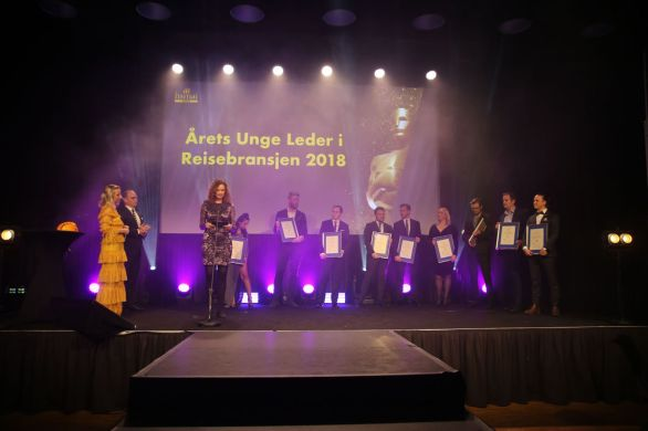 De nominerte til Årets unge leder i reisebransjen 2018. Fotograf: Camilla Bergan.