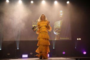 Katarina Flatland på scenen under HSMAI Awards 2018. Fotograf: Camilla Bergan.