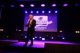 Supercoach Paal Leveraas på HSMAI Møte- og eventbørsen på Meet Ullevaal i Oslo tirsdag 8. januar 2019. Fotograf: Camilla Bergan.