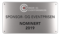 Sponsor- og Eventprisen nominert plakett