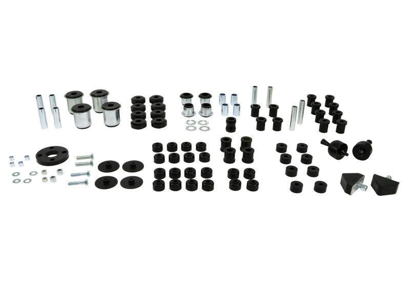 NOLATHANE Front & Rear BLACK BUSHES Kit Set Suits HOLDEN