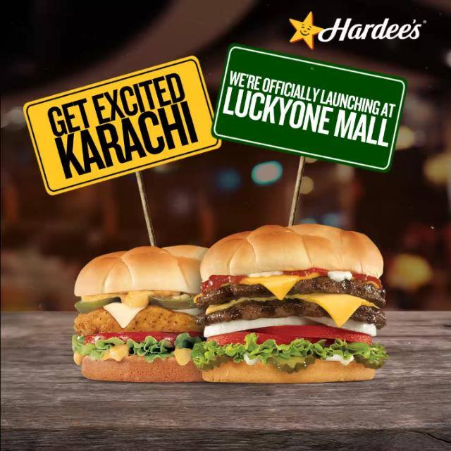 Hardees arrived at the Lucky One Mall Karachi