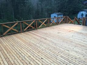 All Cedar Deck view from far Corner