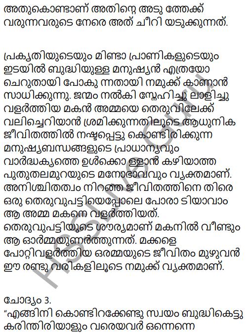 Adisthana Padavali Malayalam Standard 10 Solutions Unit 1 Chapter 3 Ammathottil 26