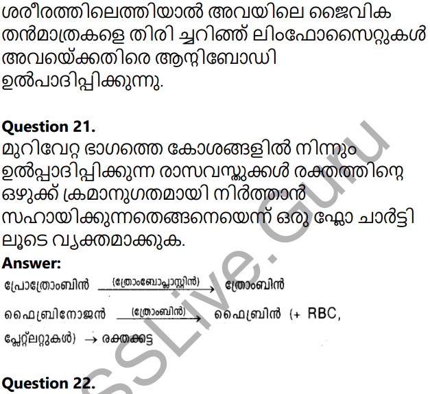 Kerala Syllabus 10th Standard Biology Solutions Chapter 5 Soldiers of Defense in Malayalam 46