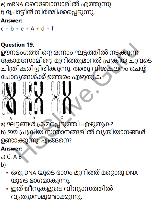 Kerala Syllabus 10th Standard Biology Solutions Chapter 6 Unravelling Genetic Mysteries in Malayalam 70