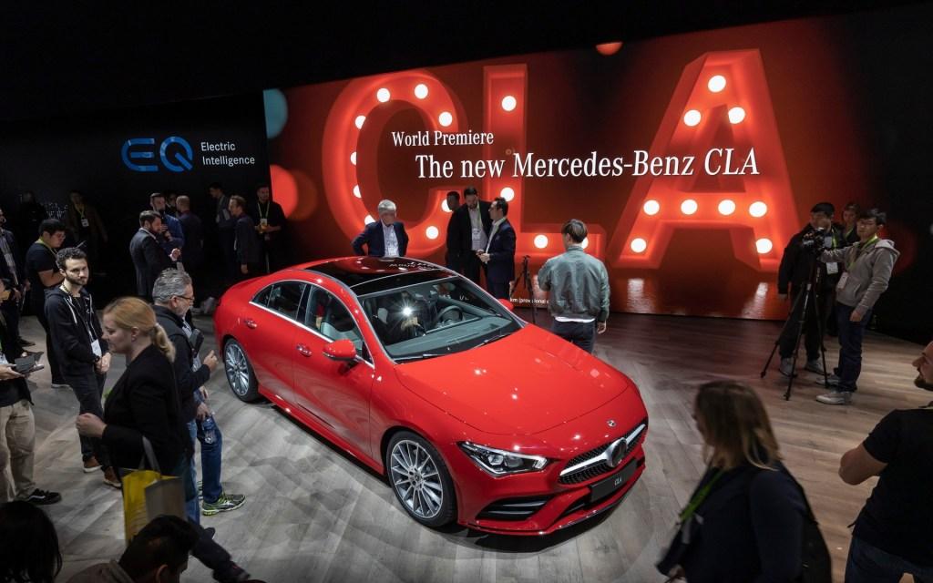 Mercedes Benz CLA 2019 presentado en el CES de las Vegas.