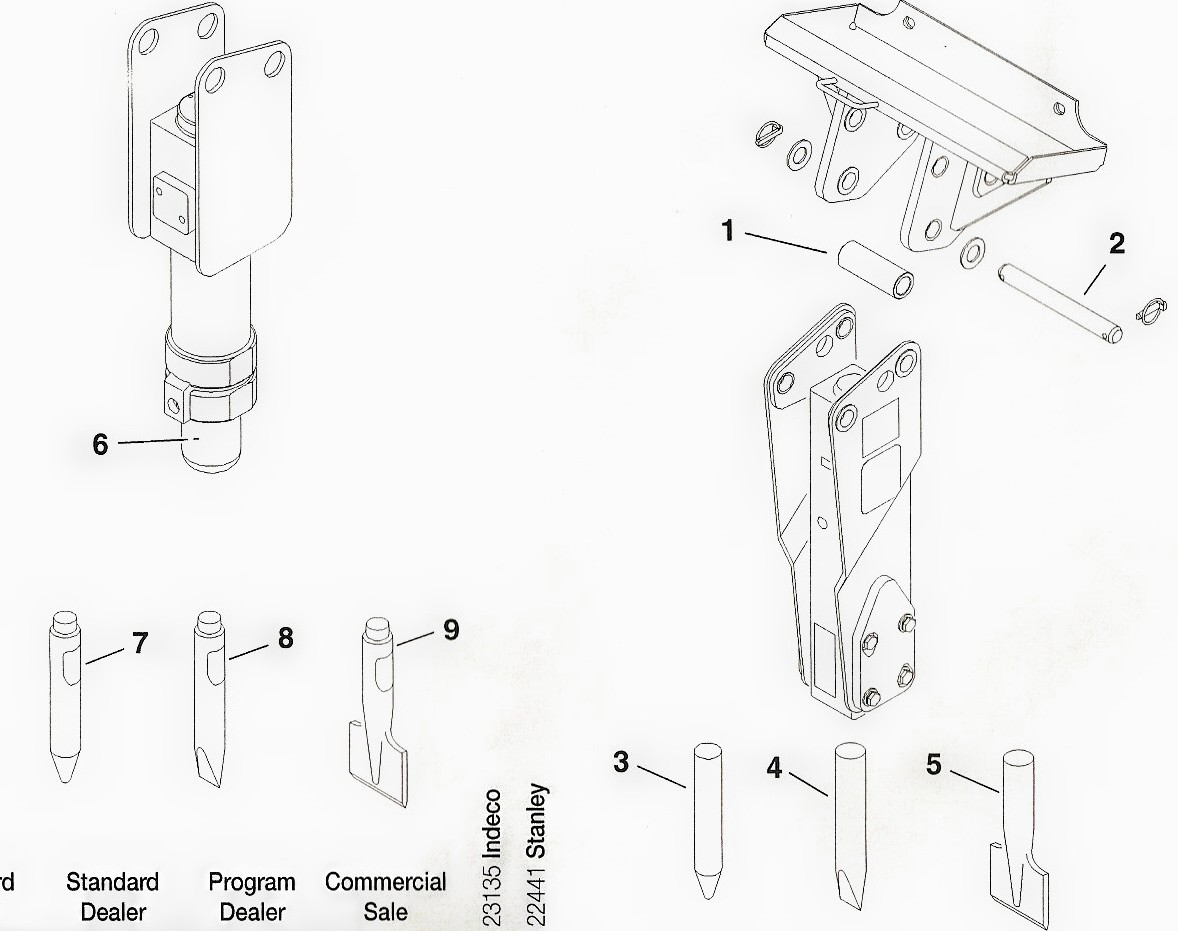 Toro Dingo Vibratory Plow and Concrete Breaker Parts