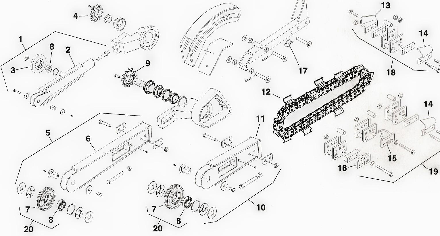 Toro Dingo Trencher Attachment Parts, Toro Trench Filler