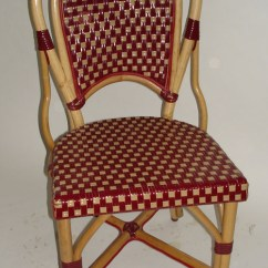 Bamboo Rattan Chair Swing Orlando French Cafe Bistro Chairs, Parisian Chairs
