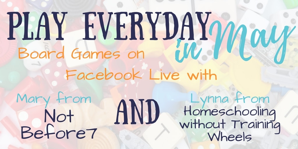 Want to take a peek at some of our favorite board games? Mary from Not Before 7 and I will be on Facebook Live sharing some family hits!