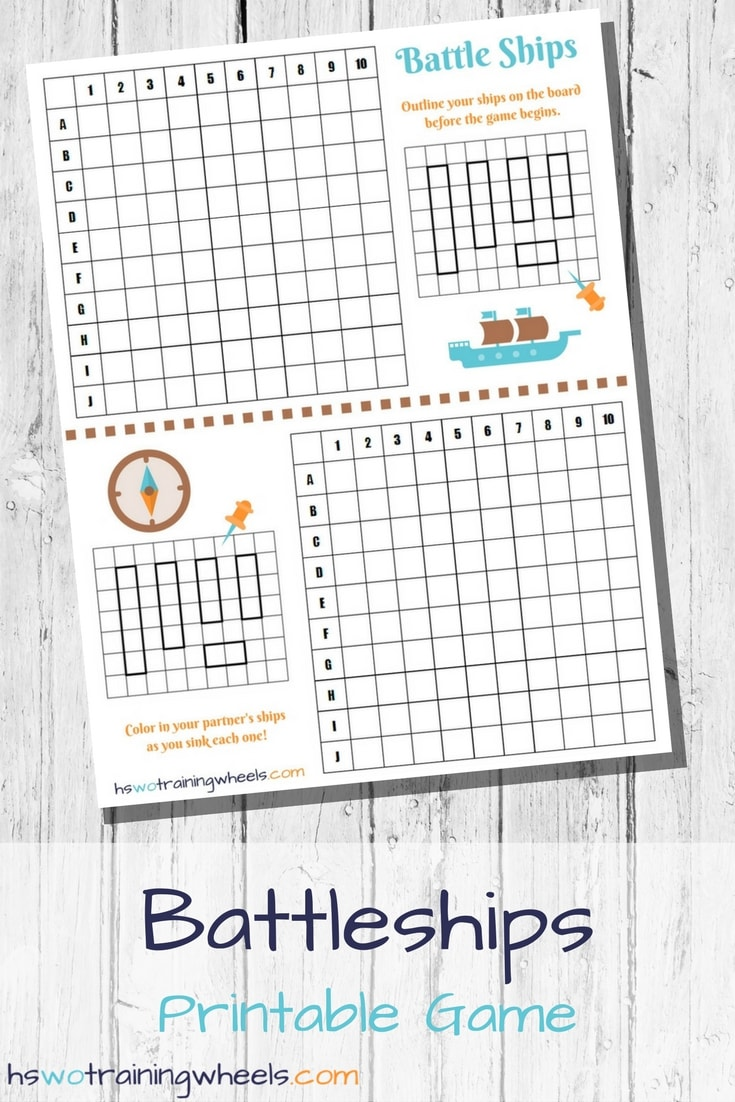 graphic about Printable Battleship Game called Battleships Printable Match Homeschooling without having Doing exercises Wheels