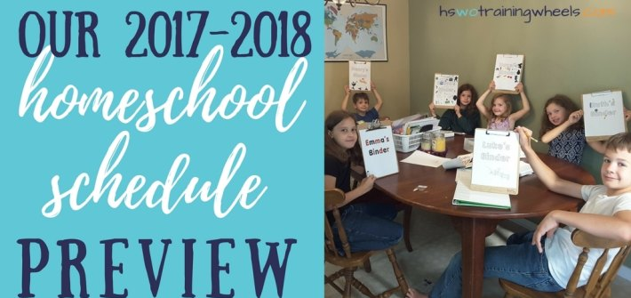 In our multi-age homeschool, we're all about keeping things simple. Take a peek at our 2017-2018 daily homeschool schedule and chore chart.