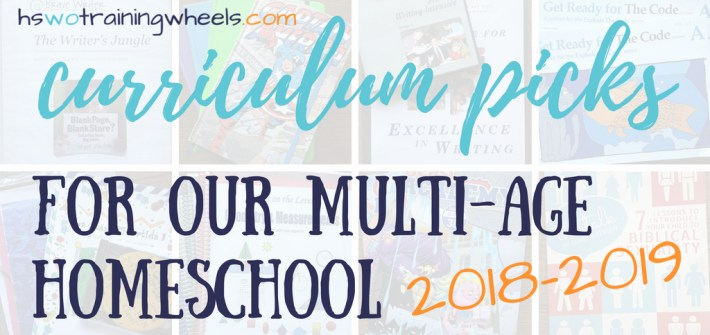Want to see the homeschool curriculum we've chosen for our mult-age homeschool family? Come take a peek at our 2018-2019 resources!