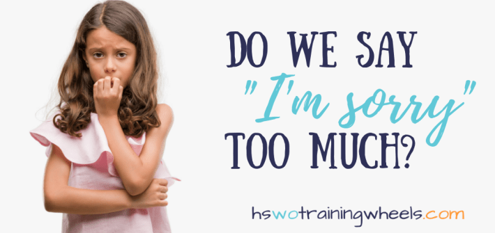 """Recent articles have suggested that we need to stop saying """"I'm sorry"""" so much. Are we blaming ourselves for things that aren't our fault?"""