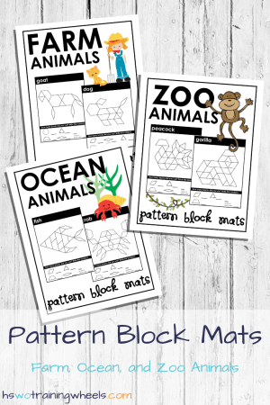 Use these printable Pattern Block Mats to build and practice both quantatitive and visual-spatial intelligence during math lessons.